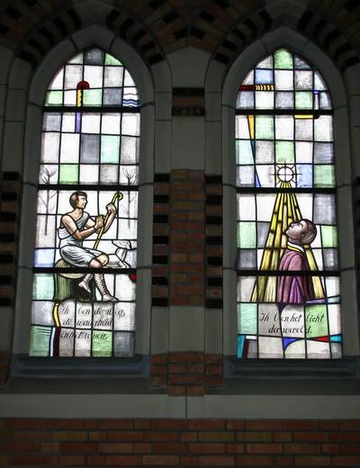 Jezus in stralenkrans, Jezus de Goede Herder
