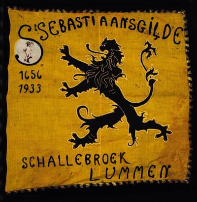 Vlag van Schuttersgilde Sint-Sebastiaan Schalbroek oudste