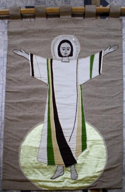 Vaandel met verrezen Christus