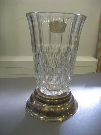 Trofee, kristallen vaas,