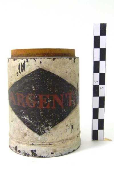 houten pot zonder deksel; ARGENT en TREOS/