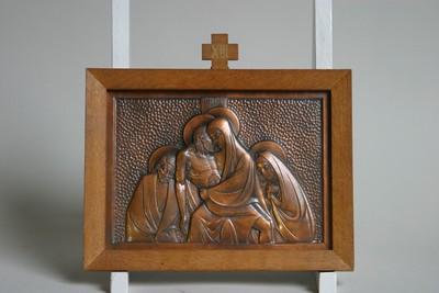 Kruisweg statie 13: Christus wordt van het kruis genomen