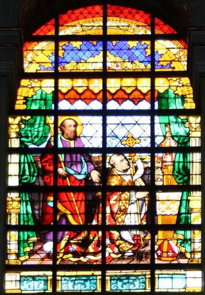 Vijf glasramen met taferelen uit de geschiedenis van de Onze-Lieve-Vrouw van Scherpenheuvel