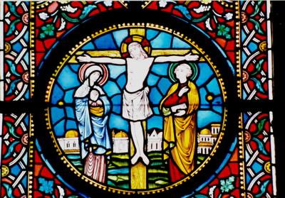 Crucifixio et scena