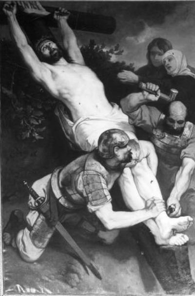 11e statie van de kruisweg, Jezus wordt aan het kruis genageld