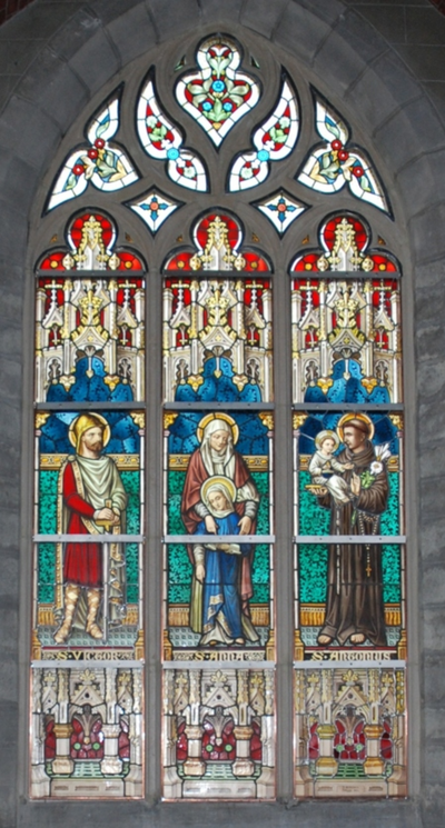 glas-in-loodraam S. Victor, S. Anna, S. Antonius