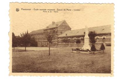 KLanden Klooster, Pensionnat - Ecole Normale moyenne Soeurs de Marie. Pleine de jeu - Tennis