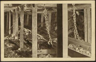 Charbonnages de Beeringen Changement des poste. Kolenmijnen van Beringen Verandering van post.