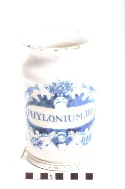 Delfts blauwe apothekerspot; PHYLONIUM:ROM.