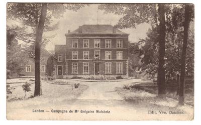 Landen Campagne de Mr.Grégoire Walsbetz