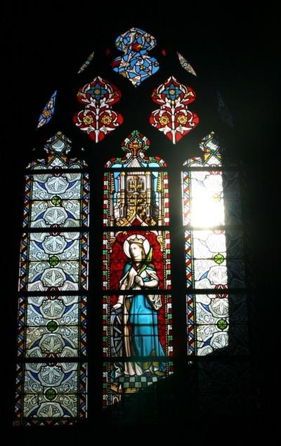 Glasraam met de Heilige Catharina van Alexandrië