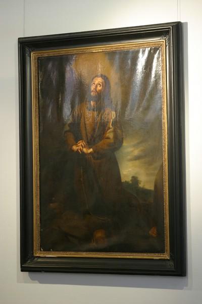 Heilige Franciscus van Assisi in gebed