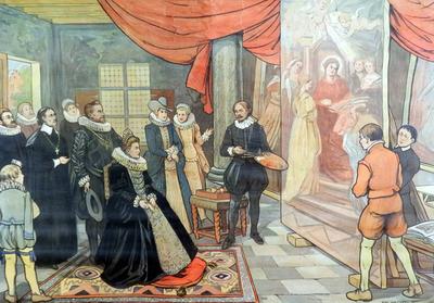 50. Albrecht en Isabella in het werkhuis van Rubens
