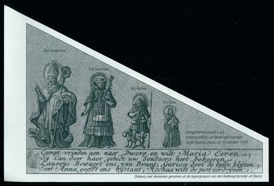 Gelegenheidsvaantje, vier heiligen, Dworp
