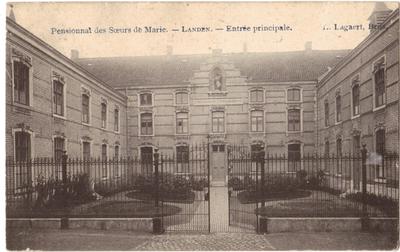 Landen, Klooster, Pensionnat des Soeurs de Marie - entrée principale