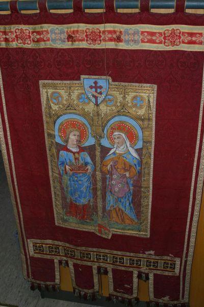processievaandel met H. Lodewijk IX en H. Elisabeth van Hongarije