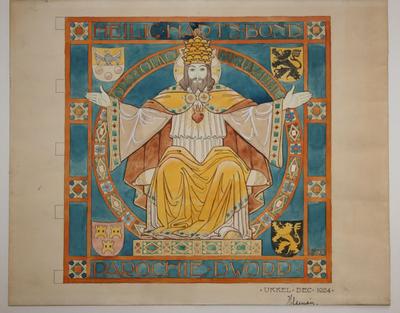 Ontwerp vlag Bond van het Heilig Hart van Dworp