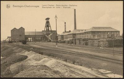 Beeringen - Charbonnages Lavoir Carbon - Bains douches - Vestiaires. Waschplaats der kolen - Kleerzaal.