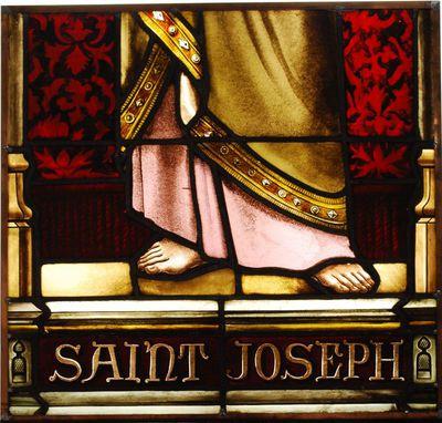 De heilige Jozef (voetstuk)
