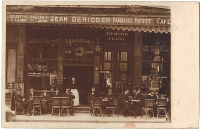 Café Jean Deridder, rendez-vouscafé spionnen WO I