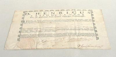 D. Henricus lasso de la vega Dei, & Apoƒtolicæ Sedis GratiaEpifcopus Taumacenƒis.