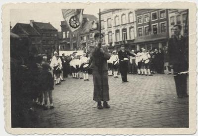 Foto aankomst Attenhovenaren in Scherpenheuvel met fanfare