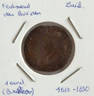 1 Oord, geslagen te Bouillon, 1612-1650, Ferdinand van Beieren, koper