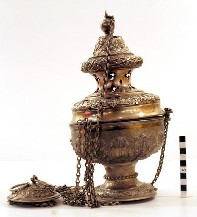 wierookvat in zilver uit de 2e helft van de 18e eeuw