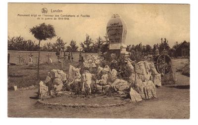 Landen oorlogsmonument 14-18 Monuments érigé en l'honneur des Combattants et Fusillés de la guerre de 1914-1918