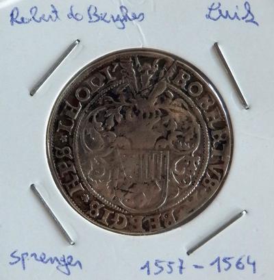 Sprenger, geslagen te Luik of Hasselt, 1557-1564, Robrecht van Berghes, zilver