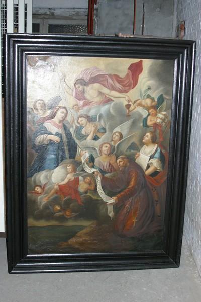Maria verschijnt aan heilige Franciscus van Assisi