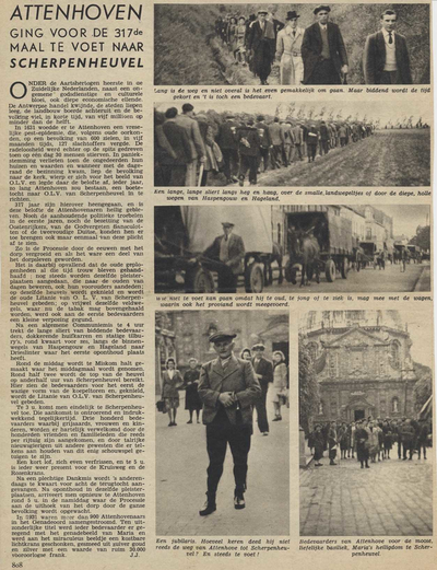 Krantenartikel 317de bedevaart van Attenhoven naar Scherpenheuvel