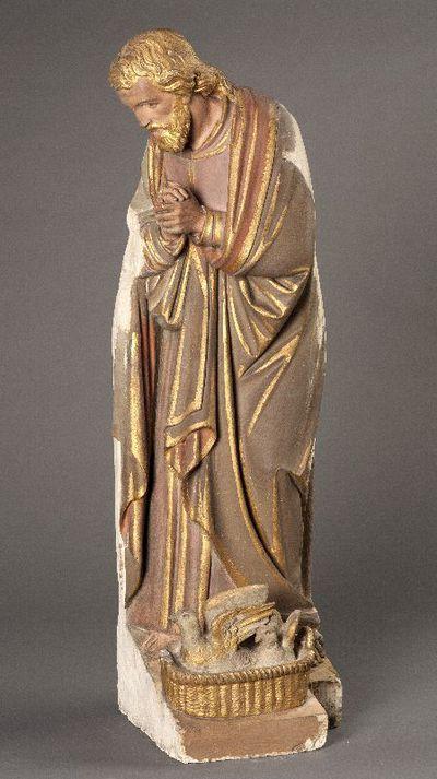 De heilige Jozef uit een beeldengroep met de presentatie van Jezus in de tempel