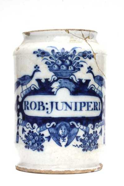Delfts blauwe apothekerspot; ROB: JUNIPERI