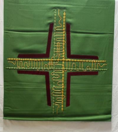Groen altaar- en lezenaarsantependium