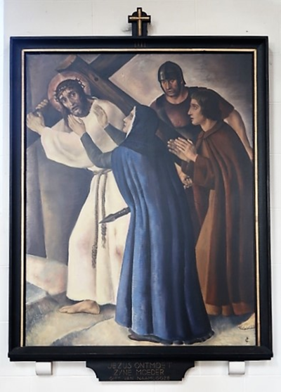 Kruiswegstatie IV: Jezus ontmoet zijn moeder