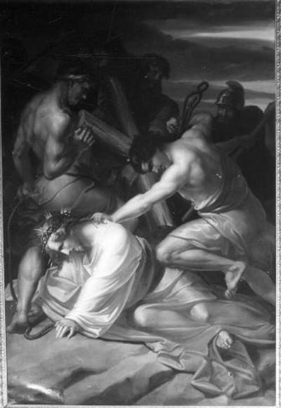 9e statie van de kruisweg, Jezus valt voor de derde maal onder het kruis