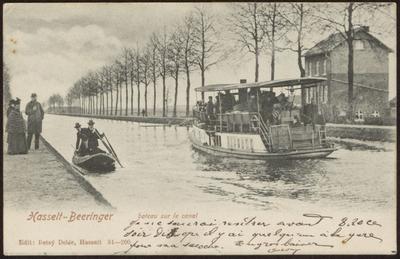 Hasselt-Beeringer [sic] bateau sur le canal