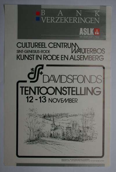 Affiche van de tentoonstelling 'Kunst in Rode en Alsemberg'