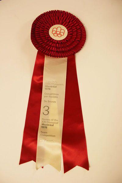 Rozet van paard Gute Sitte van Eric Wauters (winnaar bronzen medaille Olympische Spelen 1976 Montreal)
