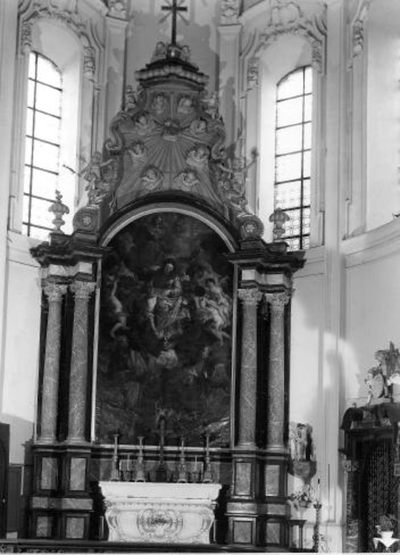 Schilderij voorstellende: de Triomf van de Onbevlekte Ontvangenis in de Hemel of ook De H. Maagd met Kind Jezus