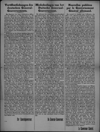 Affiche van (september) 1914 - Duitse militaire overwicht.
