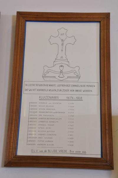 Lijst van de kluizenaars van Helshoven