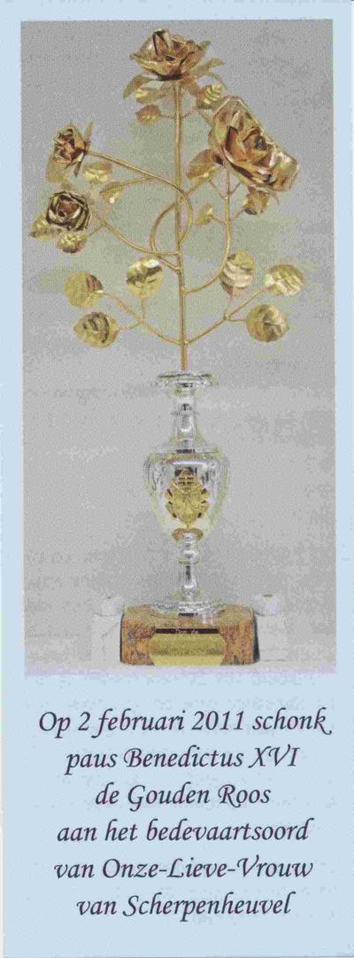 Devotieprentje Gouden Roos O.L.V. van Scherpenheuvel