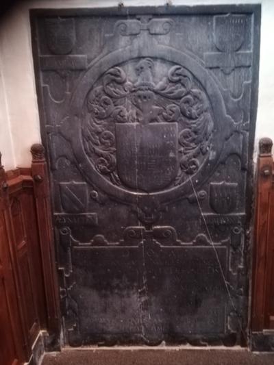 Grafsteen W de lamboy de Desseer - Margaretha de Méan