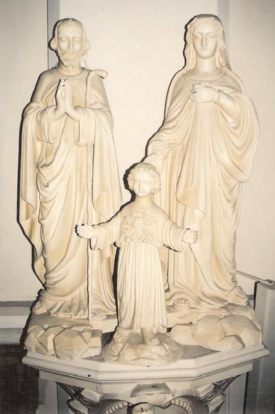 Beeld van de Heilige Familie : Jozef, Maria, Jezus