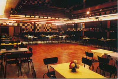 Dansvloer van de Corso van aan het podium