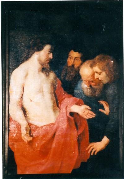 Jezus verschijnt aan ongelovige Thomas