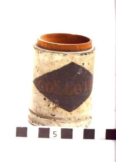houten pot; COLCOTH: