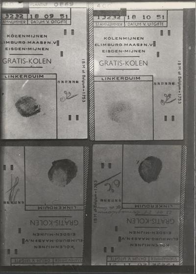 Couponnen voor gratis kolenbedeling (1951).